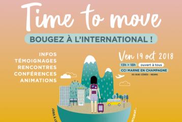 """""""Time to move"""" Reims / Forum de la mobilité internationale - 19 octobre 2018"""