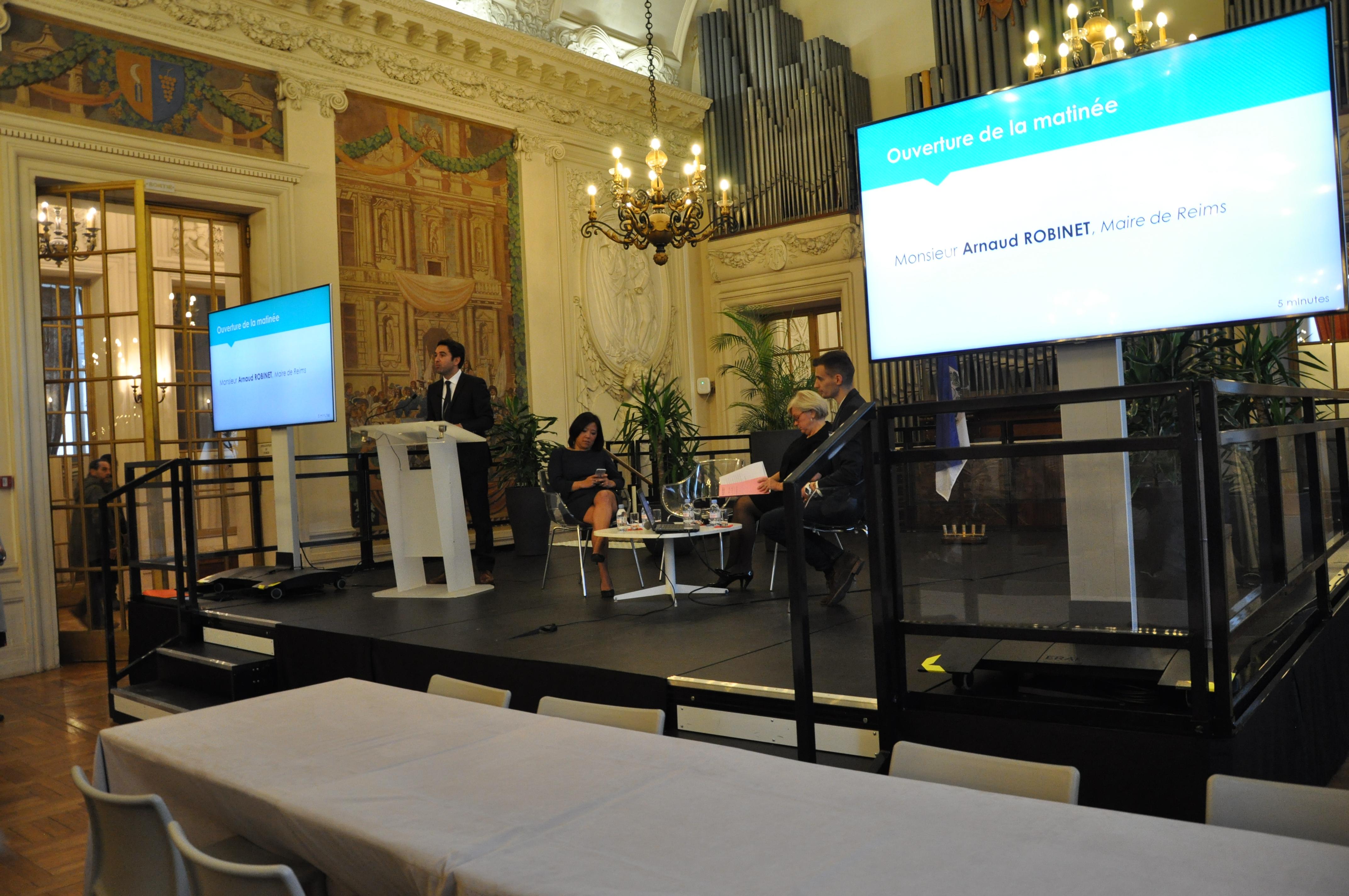 Ouverture de la matinée par Arnaud ROBINET, maire de Reims