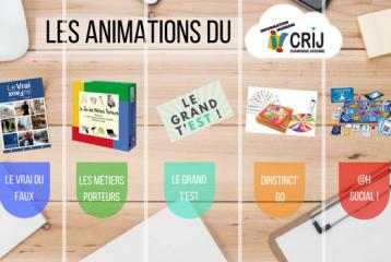 Le catalogue d'animation du CRIJ Champagne-Ardenne