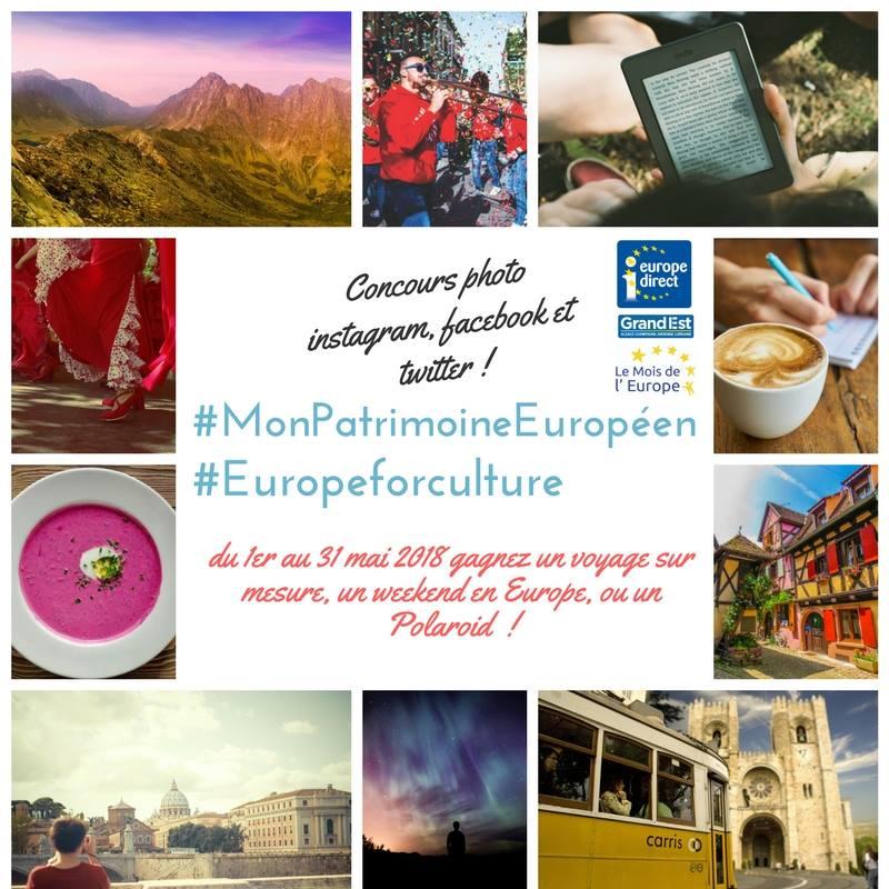Concours photo #MonPatrimoineEuropéen #EuropeforCulture
